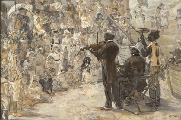 The Minstrels, 1887 (oil on panel)