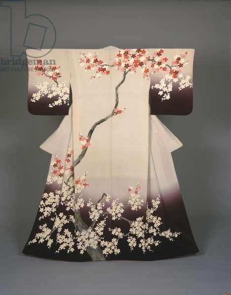 Woman's Kimono, c.1958 (silk crepe with yuzen dyeing)
