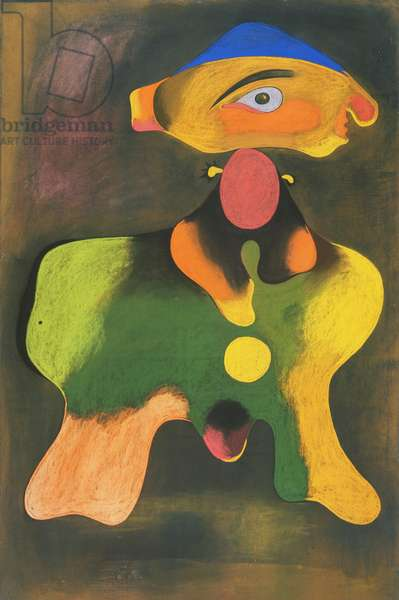 Woman, 1934 (pastel, pencil and scratching on sandpaper)