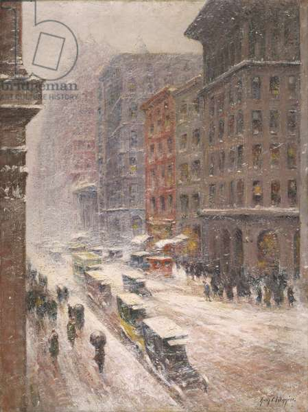 Snowstorm, Fifth Avenue, c.1935 (oil on canvas)