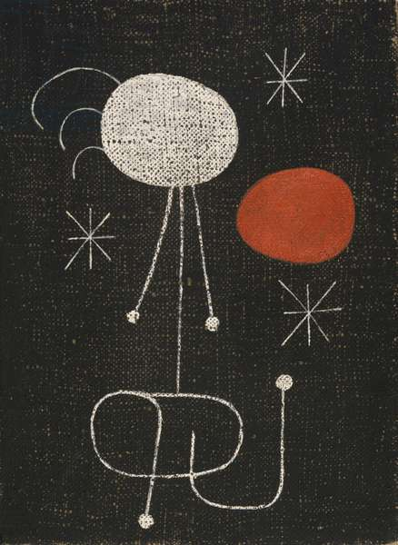 Woman in Front of the Sun, 1944 (oil & aqueous medium on burlap)