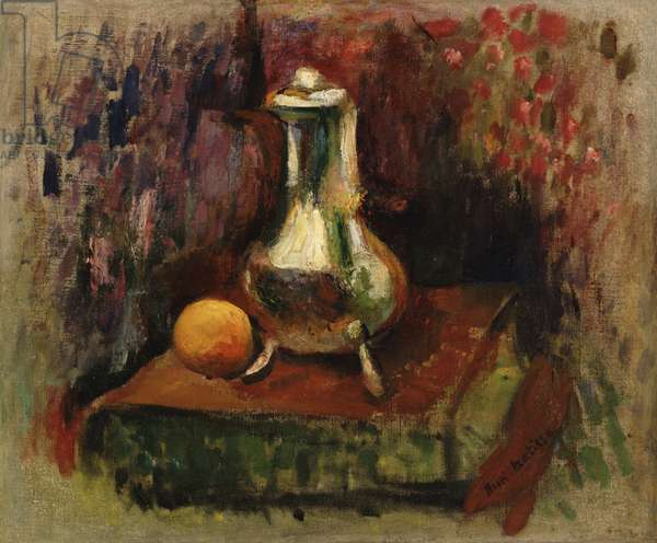 Still Life with a Chocolate Pot, c.1900 (oil on canvas)