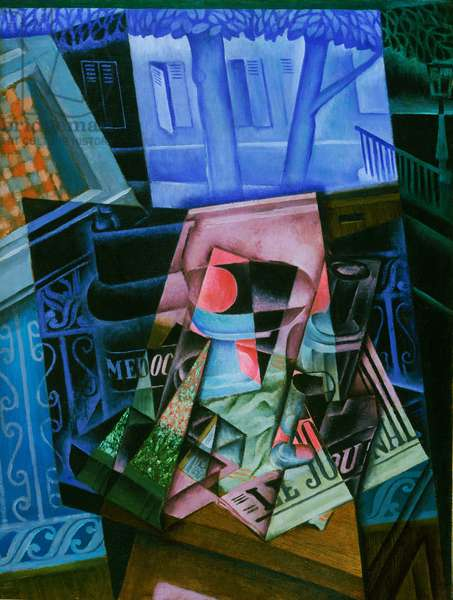 Still life before an Open Window, Place Ravignan, 1915 (oil on canvas)