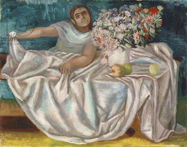 Girl with a Bouquet, 1946 (oil on canvas)