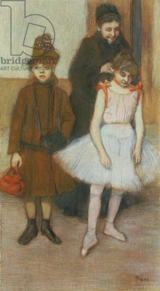 The Mante Family, c.1884 (pastel on paper)