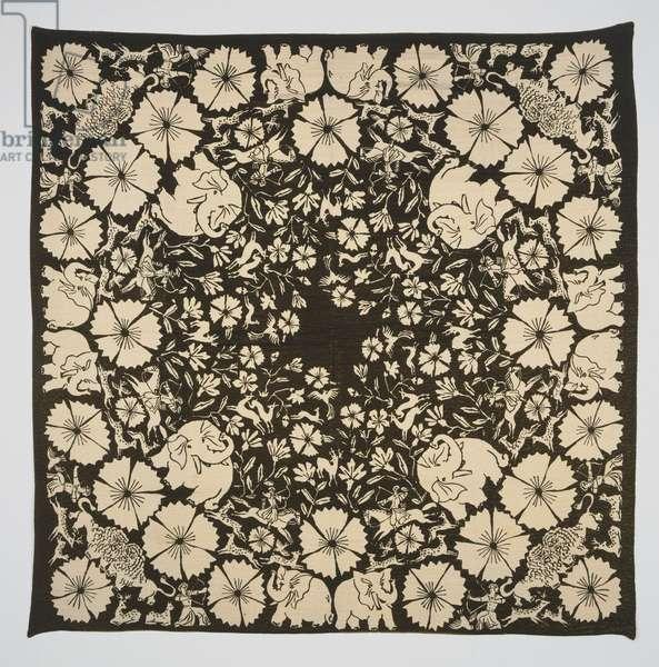 Shawl, woven by Bianchini-Ferier, Lyons, France (c.1880-present), c. 1928 (silk with metallic thread)