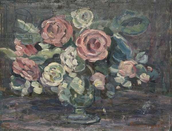Night Study of Flowers, 1912 (oil on panel)