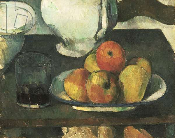 Still Life with Apples and a Glass of Wine, 1877-79 (oil on canvas)