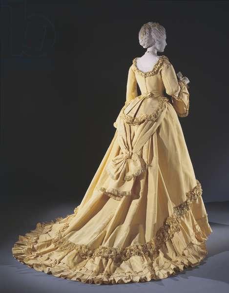 Woman's Dinner Dress: Bodice and Skirt, c.1868 (silk faille)