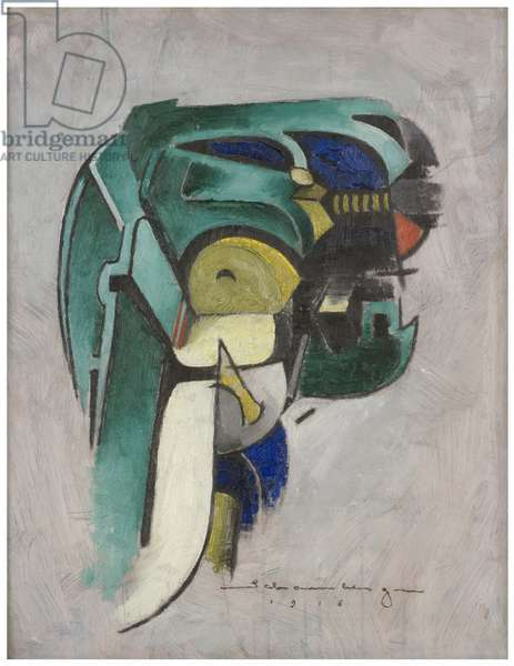 Painting IV (Mechanical Abstraction), 1916 (oil on panel)