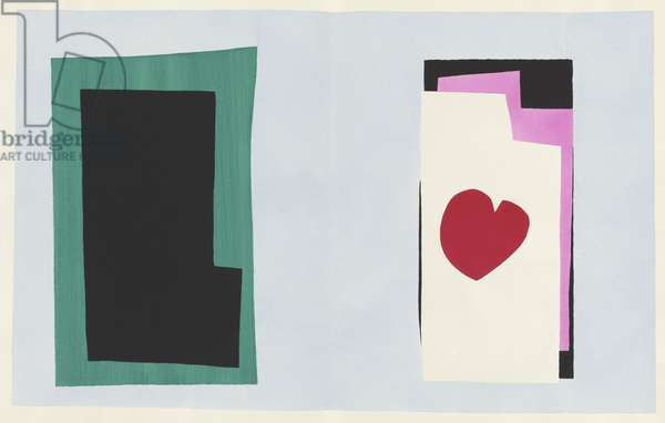 The Heart, illustration from the portfolio 'Jazz', 1947 (colour stencil print)