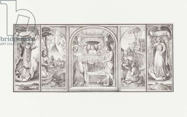 Hausaltar (Portable Domestic Altarpiece), 1820 (litho)