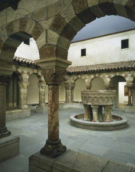 Fountain from the Monastery of Saint-Michel-de-Cuxa, Roussillon, France, 1125-50 (marble)