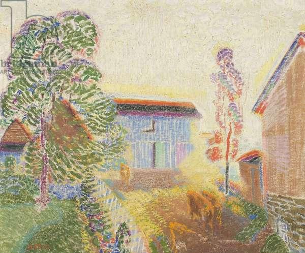 Farm Scene, c.1940 (oil on canvas)