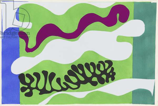 Lagoon II, illustration from the portfolio 'Jazz', 1947 (colour stencil print)