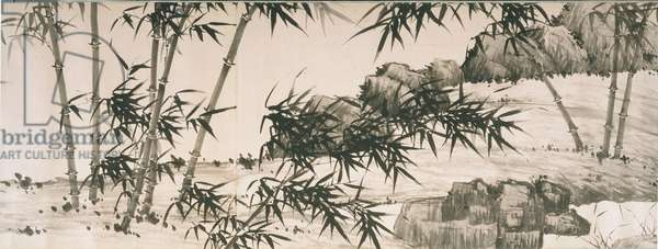 Bamboo under Spring Rain, Ming Dynasty, Tianshun Period, c.1460 (ink on paper)
