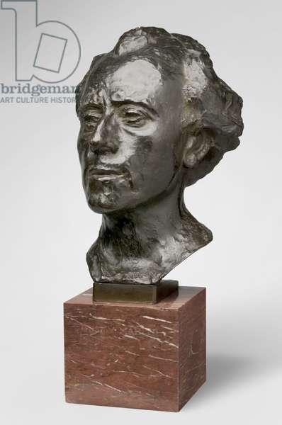 Gustav Mahler, modeled 1909, cast by Alexis Rudier (1874-1952), 1926 (bronze)