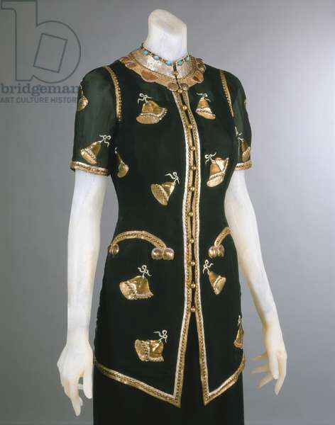 Woman's evening jacket, Fall 1939 (silk georgette, metallic thread embroidery, beads)