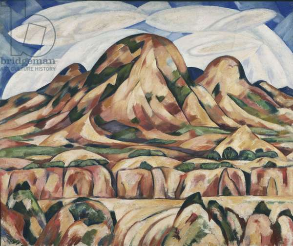 New Mexico Landscape, 1919-20 (oil on canvas)