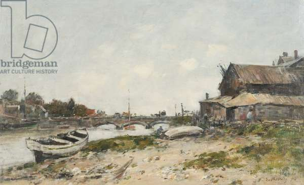 The Bridge over the River Touques at Deauville, 1894 (oil on canvas)
