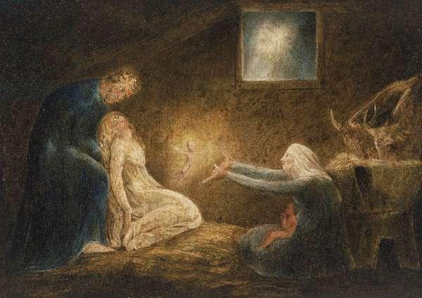 The Nativity, c.1799-1800 (tempera on copper)