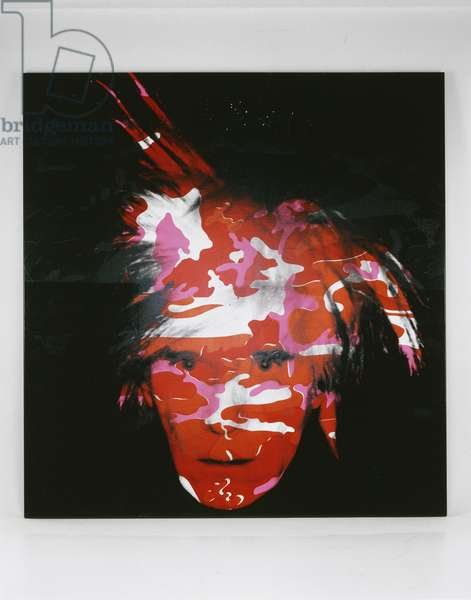 Camouflage Self-Portrait, 1986 (synthetic polymer paint and silkscreen on canvas)
