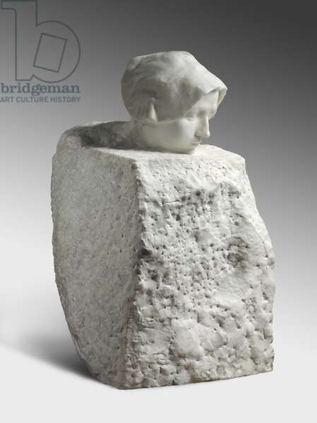 Thought, modeled 1895, carved by Camille Raynaud (1868-after 1931) in 1900-01 (marble)