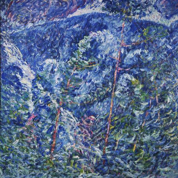 Winter Chaos, Blizzard, 1909 (oil on canvas)