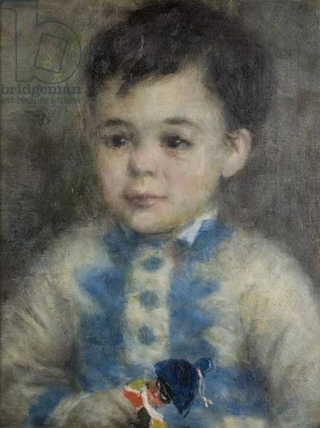 Boy with a Toy Soldier, c.1875 (oil on canvas)