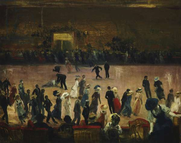 Skating Rink, New York City, c.1906 (oil on canvas)