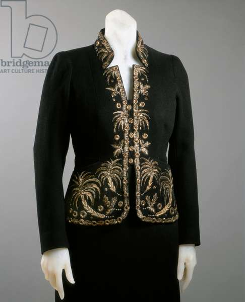 Dinner Jacket, Winter 1936-37 (wool, gold & metal thread embroidery with gold paillettes)