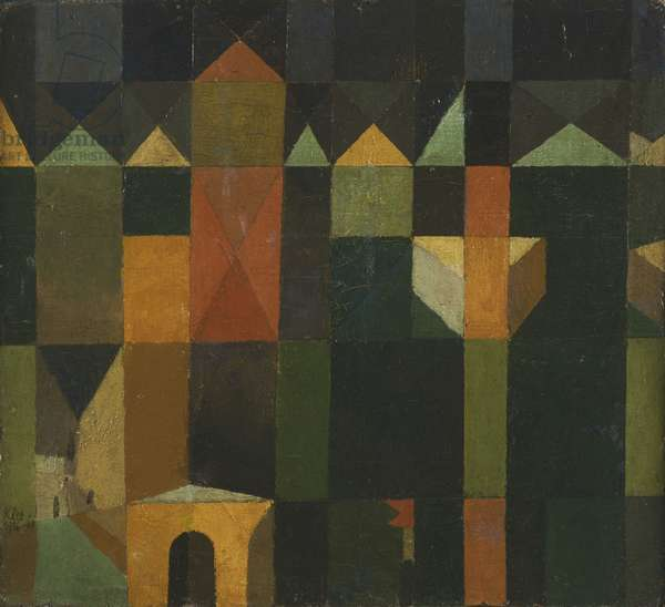 City of Towers, 1916 (oil on canvas)