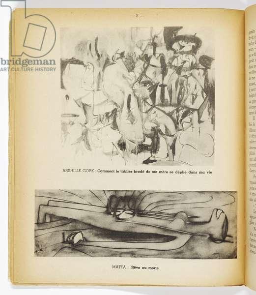Le Surréalisme en 1947, pub. Pierre à Feu/Maeght, Paris, 1947 (paperbound exhibition catalogue) (see also 451054)
