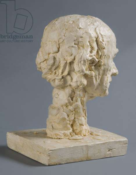"Head of William Rush, Model for ""William Rush Carving His Allegorical Figures of the Schuylkill River"", 1876-77 (cast 1931 by Mrs. Eakins) (plaster) (see also 434255)"