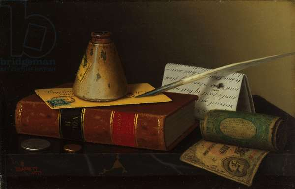 Still Life with a Writing Table, 1877 (oil on canvas)