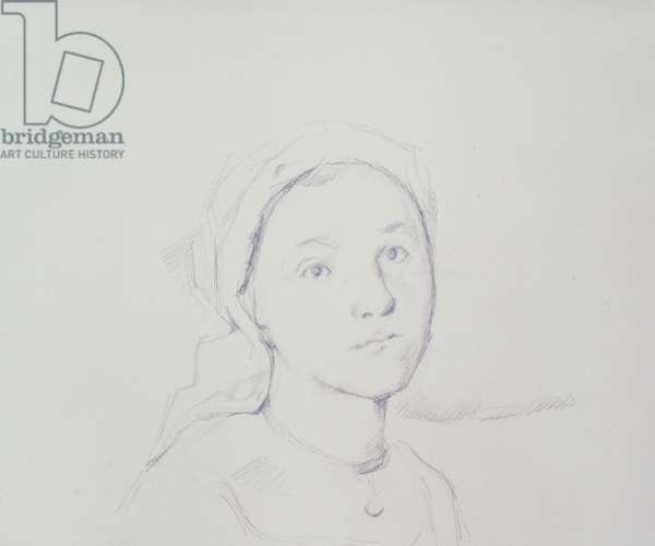 Peasant Girl Wearing a Fichu, 1890-93 (graphite on paper)