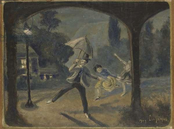 Vaudeville, 1909 (oil on masonite)