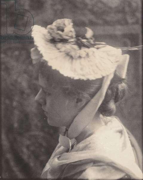 Eva Lawrence Watson, c.1885 (platinum print)
