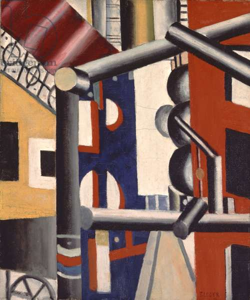 The Scaffolding (First State) 1919 (oil on canvas)