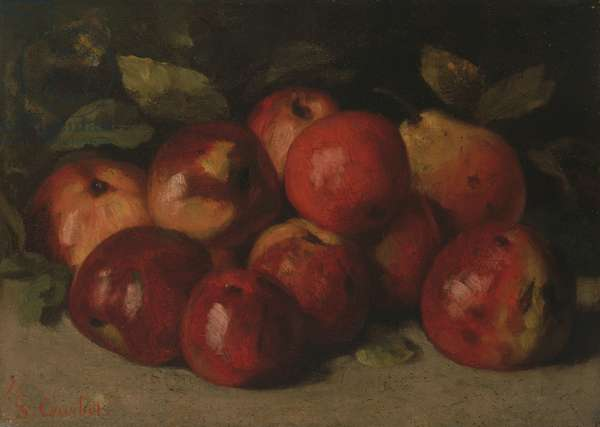 Still Life with Apples and a Pear, 1871 (oil on canvas)
