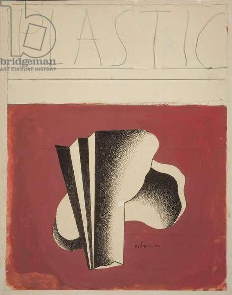 Composition, 1934 (gouache on paper)