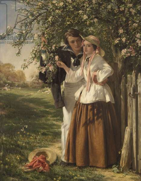 Lovers under a Blossom Tree, 1859 (oil on canvas)