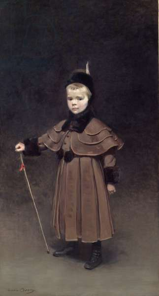 Portrait of Cecil Kent Dinker, 1891 (oil on canvas)