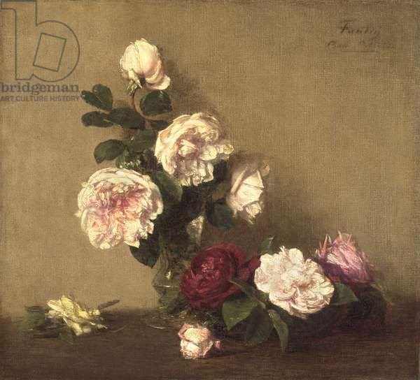 Still Life with Roses of Dijon, 1882 (oil on canvas)
