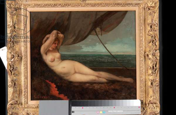 Nude Reclining by the Sea, 1868 (oil on canvas)