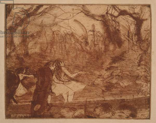 On Stage III, 1876-77 (etching & drypoint)