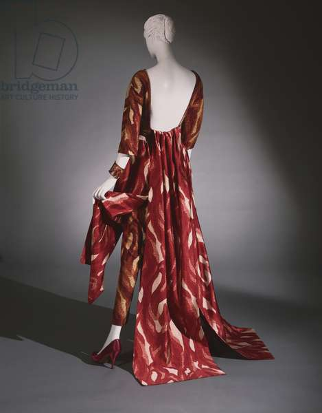 Woman's 'Palazzo Pajamas', 1962 (printed silk with bead embroidery)