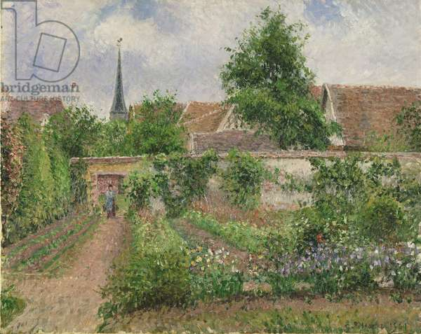 Vegetable Garden, Overcast Morning, Eragny, 1901 (oil on canvas)
