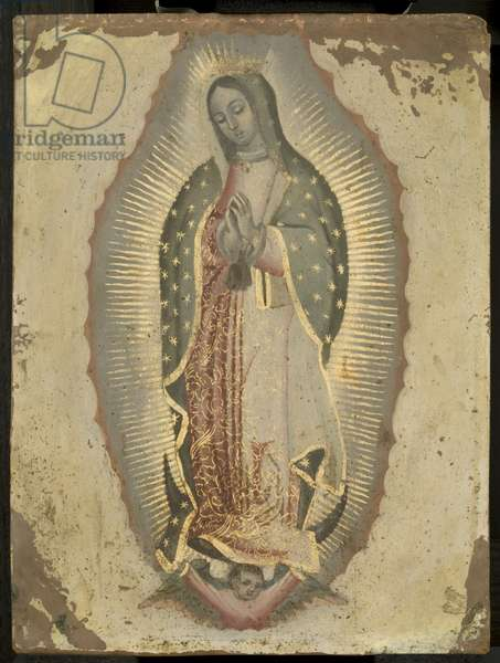 Virgin of Guadeloupe, c.1740 (oil on copper)