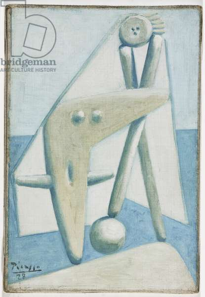 Bather, Design for a Monument (Dinard) 1928 (oil on canvas)